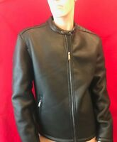 "BNWT  500 MAISON CINQCENT Mens Faux Leather Jacket Size XL Chest 46"" L30"""
