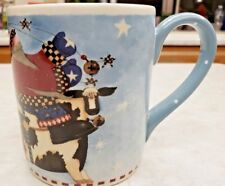 Willraye Studio Santa Riding Cow Christmas Mug 2000