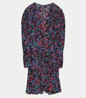 ZARA WOMAN NWT SALE! GATHERED PRINTED DRESS SIZE M REF: 9006/162