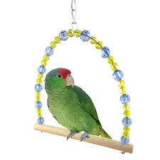 EG_ Pet Parrot Swing Bird Cage Toy Wooden Suspension Bridge Hanging Decor _GG