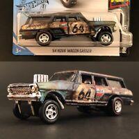 Hot Wheels 64 Nova Wagon Gasser - Super Custom Made Treasure Barn Find Rust Gulf