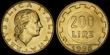 ITALY 200 LIRE 1998-R (GEM UNC) *GEM MINT-SET ISSUE*