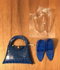 Vintage BARBIE Fancy Trimmins Accessories BLUE Purse Closed Toe Shoes Ex! Lot