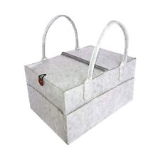 Baby Kids Diaper Caddy Organizer with Cover Nappy Changing Storage Bag Basket Wm