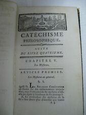 1788 Catechisme Philosophique Ou Recueil D'Observations Propres A Defendre