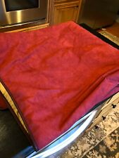 Rare Orvis Pet-resistant Reversible Coverlet Blanket Bed Dog Proof King Red