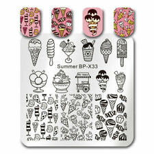 BORN PRETTY  Kunst Nagel Stempel Schablone Nail Art Stamp Icecream