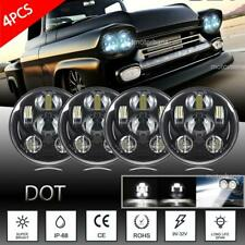 "4pc 5.75 5-3/4"" Round LED Headlights Black Hi-Lo For Toyota Corona Pickup Celica"