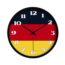Flag of Germany Wall Clock German Flag Wall Clock Modern Home Decor 12""