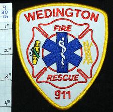 ARKANSAS? WEDINGTON FIRE RESCUE 911 PATCH