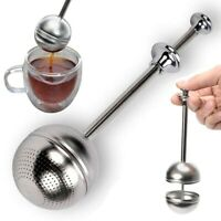 New Stainless Steel Loose Tea Leaf Strainer Filter Herbal Spice Infuser Diffuser