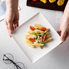 Kitchen Essential White Dinner Dessert Plates Round Square Rectangle
