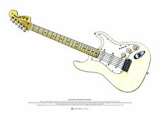 Jimi Hendrix's Woodstock Stratocaster ART POSTER A2 size