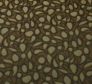 """OUTDURA TEMPO COFFEE BROWN GEOMETRIC OUTDOOR INDOOR FABRIC BY YARD 54""""W"""