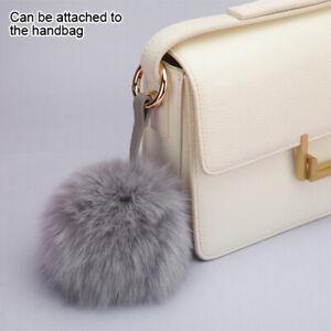 MYBAT Cellphone Charm - Gray Fox Fur Pom-Pom (Large) - WP