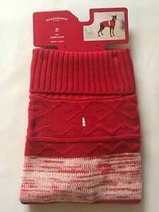 Pet Knit RED SWEATER Medium Fits Dogs Up to 50 lbs Wondershop at Target