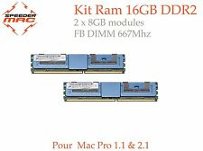  Kit Mémoire 16 GB (2x 8GB) DDR2  667MHz FBDIMM pour Mac Pro 2006/07, 1.1 & 2.1