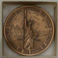 1967 Statue of Liberty/Ellis Island 75th Anniv Medallic Art Bronze Medal in Box