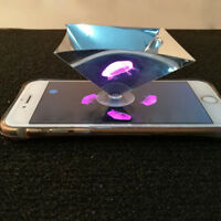 3D Hologram Pyramid Display Projector fr Smartphone Universal For IOS / Android