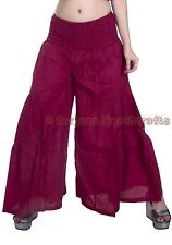 New Women Maroon Cotton Palazzo Harem Pants Dance Trousers Afghani Yoga Hippie