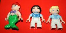 LOT 3 FIGURINES LEGO DUPLO ARIEL CENDRILLON BLANCHE NEIGE ORIGINALE