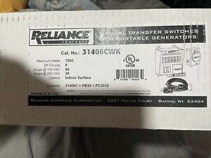 Reliance Controls Manual Transfer Switches For Portable Generators