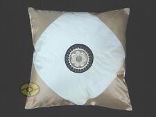 camel + cream Satin Cushion Cover/Pillow Case Hmong Miao Nationality SUN design