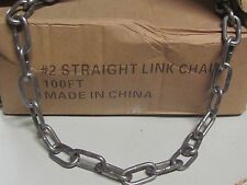 100 Feet of # 2 Straight Link Chain Trapping Traps Raccoon Fox New Sale