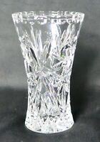 "Vintage Lenox Small Crystal Star Vase 4"" Czech Republic pinwheel"