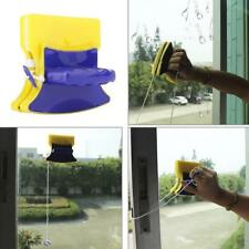 Window Cleaner Magnetic Double Glass Wiper Cleaning Brush Side Tool Glider Pads-