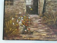 """Vintage Signed Art Chadwick Oil Painting on Canvas 16 """"x 12"""" dated 1982, MB166"""