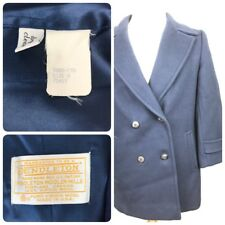 Pendleton Peacoat Jacket Navy Blue 100% Virgin Wool Women's Size 8 Made In USA