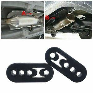 2PC Exhaust Hangers Insulator Adjustable 4 Holes Performance Polyurethane Rubber
