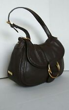 Chaps Brown Leather Shoulder Bag. Small/Medium Hobo