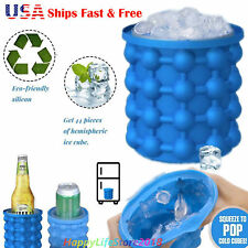 US Ice Cube Maker Genie The Revolutionary Space Saving Ice Genie Cube Maker Blue