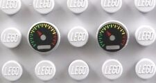 LEGO SPEEDOMETER GAUGE TILES ~ 2x Round 1x1 Printed Auto Car Truck Dial Tile NEW