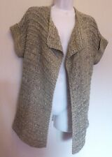 Per Una Medium UK12-14 EU40-42 US8-10 brown-mix ribbon knit cardigan