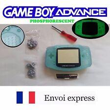 Coque GAME BOY ADVANCE Vert PHOSPHORESCENT NEUF +tournevis - étui shell case GBA