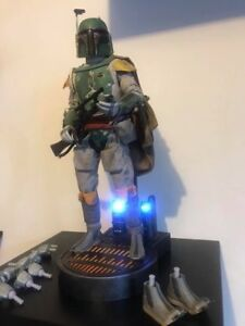 1/6 Star Wars Boba Fett Scum & Villainy Exclusive Sideshow Collectibles Used JC