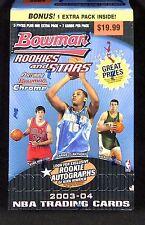 2003-04 Bowman Rookies and Stars Basketball Retail Blaster Box (6 packs)