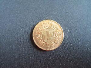 PIECE 20 FRANCS OR - SUISSE- 1914 B