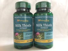 2 Puritan's Pride Milk Thistle Standardized 250 mg (Silymarin) Made In USA