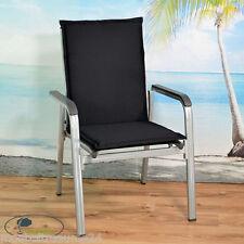 Auflagen für Sessel Stapelstuhl Stapelsessel Stapelstühle Stuhl Kissen schwarz
