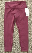 Lululemon Womens Wunder Under High Rise 7/8 Tight Pink Size 10 LW5APQS