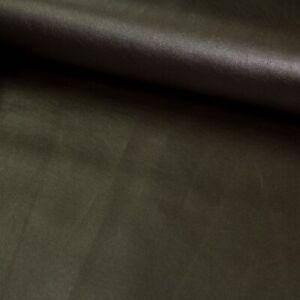 Kunstleder Lederimitat metallic braun