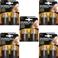 10 x Duracell Plus Power Batterie Alcaline Tipo D PACK, LR20 MN1300 MX1300 MONO