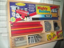 Mighty Builders Train by Melissa & Doug in Wood Case NEW
