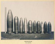 Projectiles SCHNEIDER Gros Calibres - Obus Catalogues c. 1920