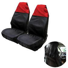 2x Universal Waterproof RED/BLACK Car Van Front Seat Cover Duty Protectors