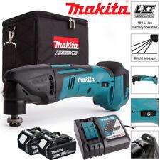 Makita DTM50Z 18V Oscilante Multiherramienta Con 2 X 4.0Ah BL1840, DC18RC Y Bolsa De Cubo